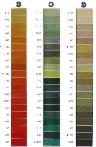 Цветовая палитра вышивка